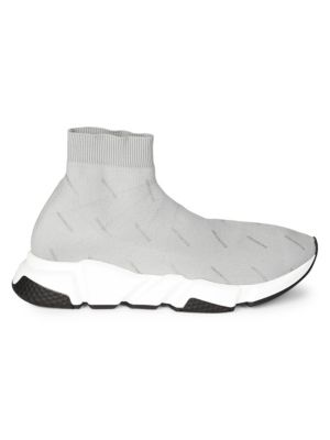 Speed Sock Logo-Print Stretch-Knit Sneakers, Grey Multi