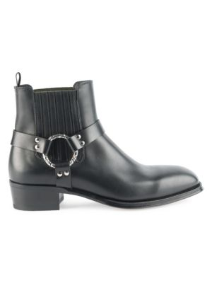 Leather Chelsea Boots - Black Size 10 M