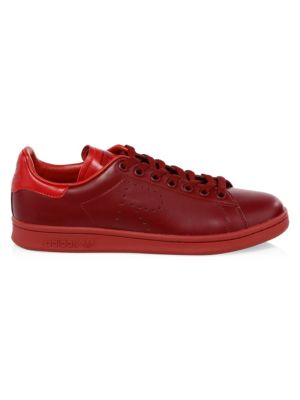 Men'S Stan Smith Leather Sneakers, Burgundy