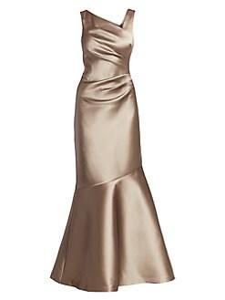31ca09b08d1e0 Teri Jon by Rickie Freeman. Stretch Taffeta Mermaid Gown