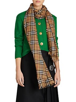 c670da23e0c3 Burberry. Vintage Check Wool   Silk Scarf