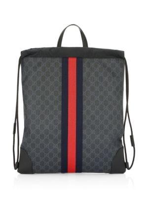 f09a0b72a58f80 Gucci GG Signature Web Drawstring Backpack