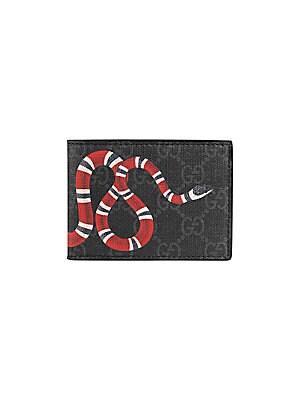 553bec62509072 Gucci - Kingsnake Print GG Supreme Wallet - saks.com