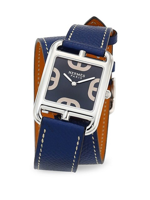 Cape Cod 29MM Stainless Steel & Leather Double-Wrap Strap Watch