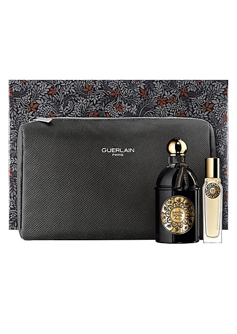 Image of Two cultural icons and distinctive brands - Guerlain and Liberty London, unite to celebrate Mother's Day and Father's Day. Liberty London Fabrics teamed up with Guerlain to create a beautiful print for an exclusive gift set collection. Santal Royal is a w