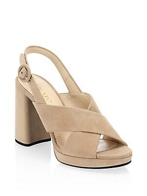 d910c8a80e4 Prada - Suede Ankle Strap Platform Sandals - saks.com