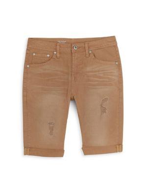 Boys Nate Slim Denim Bermuda Shorts