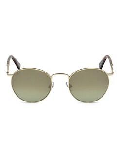 75e0e039b044 Web. 51MM Gold   Green Round Sunglasses