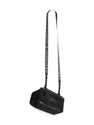 Mini Nylon Pandora Bag With Logo Strap by Givenchy