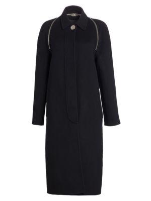 Splittable Wool Trench Coat by Alexander Wang