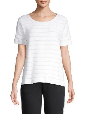 ESCADA SPORT Sorvolare Stripe Knit Tee in White