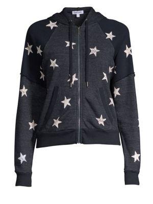 Liberty Star-Print Hooded Jacket, Navy