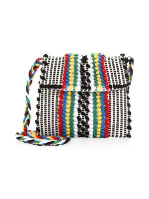 ANTONELLO TEDDE Cotton Striped Crossbody Bag in Multi