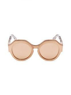 c52e607ef03b Roberto Cavalli. Bronze Round Sunglasses 56MM