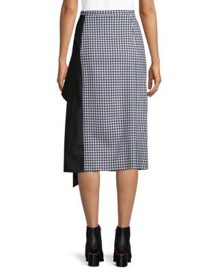 TIBI Pencil skirts Gingham Asymmetrical Pencil Skirt