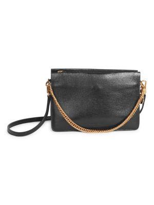 Cross 3 Leather Crossbody Bag - Black