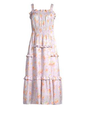 Rebecca Taylor Silks Emilia Silk Midi Dress