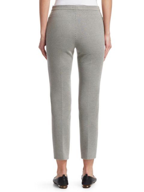 Akris punto Franca Houndstooth Cropped Trousers | SaksFifthAvenue