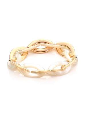 VHERNIER Doppio Senso 18K Rose Gold & Mother-Of-Pearl Bracelet
