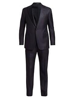 6f443b9481f0e Giorgio Armani. Honeycomb Wool Tuxedo Suit