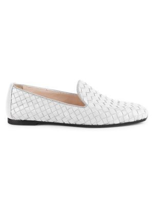 Fiandra Woven Leather Loafers by Bottega Veneta