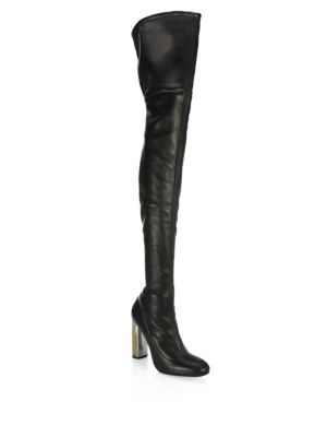 Leather Over The Knee Boots by Alexander Mc Queen