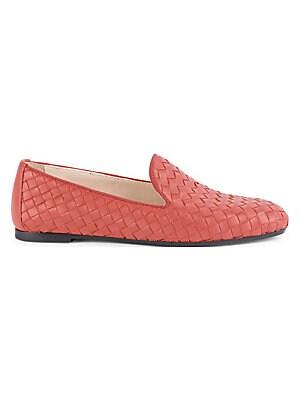 e95610f2e83 Bottega Veneta - Basket Weave Leather Loafers - saks.com