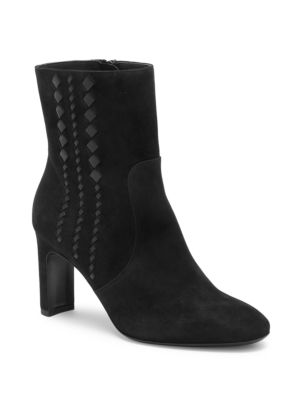 Isabella Suede High-Heel Booties in Black