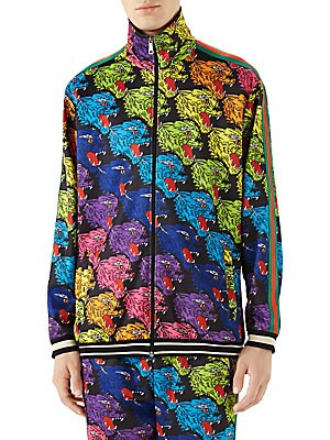 1e42a0ce5db Gucci - Panther Face Technical Jacket - saks.com