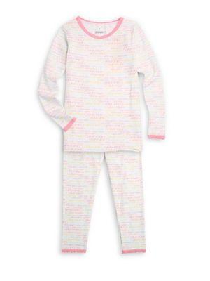 Little Girls  Girls TwoPiece Tee  Pants Pajama Set