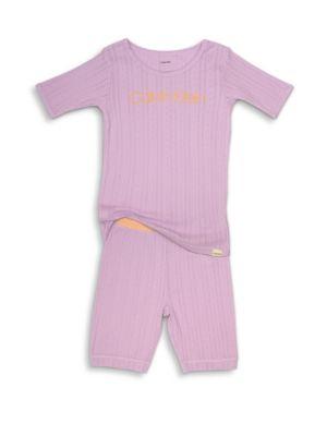 Girls TwoPiece Tee  Shorts Pajama Set