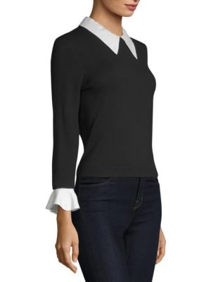 ALICE AND OLIVIA Tops Aster Ruffle Cuff Sweater