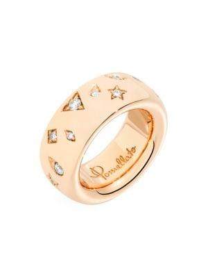 Pomellato Iconica 18K Rose Gold & Diamond Ring