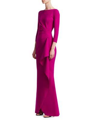 Gaylin Side Ruffle Gown by Chiara Boni La Petite Robe