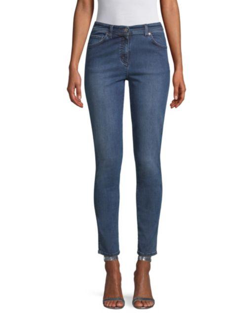 St. John Mid-Rise Stretch Slim Ankle Jeans | SaksFifthAvenue