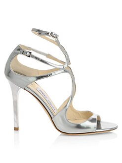 68311909e18 QUICK VIEW. Jimmy Choo. Lang Liquid Mirror Leather Sandals