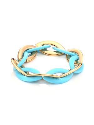 VHERNIER Doppio Senso 18K Rose Gold & Turquoise Bracelet in Blue