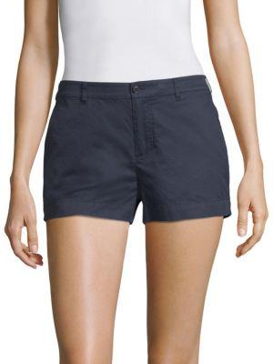 Poplin Boyfriend Shorts in Midnight