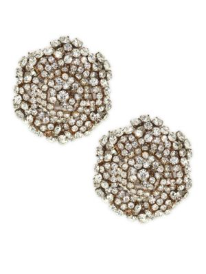 Ava Cluster Clip-On Earrings in Gold