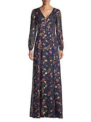 Rachel Zoe - Heather Flutter Sleeve Sequin Gown - saks.com