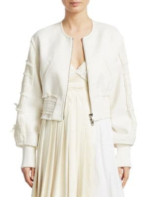 Gathered Bomber Jacket by 3.1 Phillip Lim