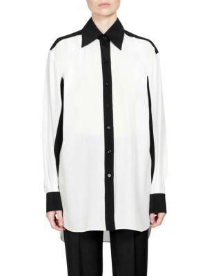 Givenchy Silks Silk Crepe de Chine Shirt