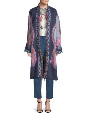 Paisley Jacquard Knit Jacket in Multicolour