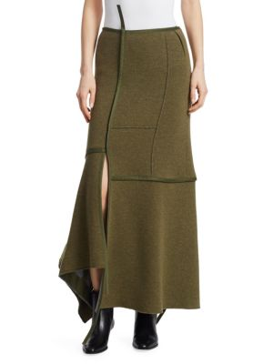 Asymmetrical Seamed Patch Maxi Skirt by 3.1 Phillip Lim