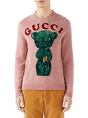 8c2d89a7680 Gucci - Intarsia Knit Teddy Bear Sweater - saks.com