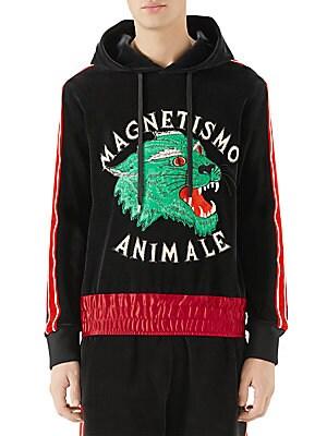 7769ea069a374 Gucci - Sweatshirt with Metal Guccify Print - saks.com
