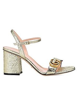 a9b7089d6 Gucci - Marmont GG Ankle-Strap Sandals - saks.com