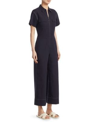Morrison Cotton-Blend Jumpsuit, Navy