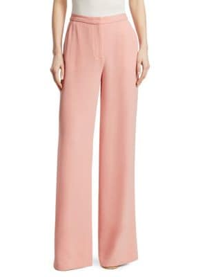 Harmon Simple Wide-Leg Pants, Dahlia
