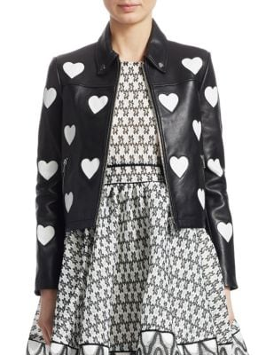 Heart Leather Jacket by Maje